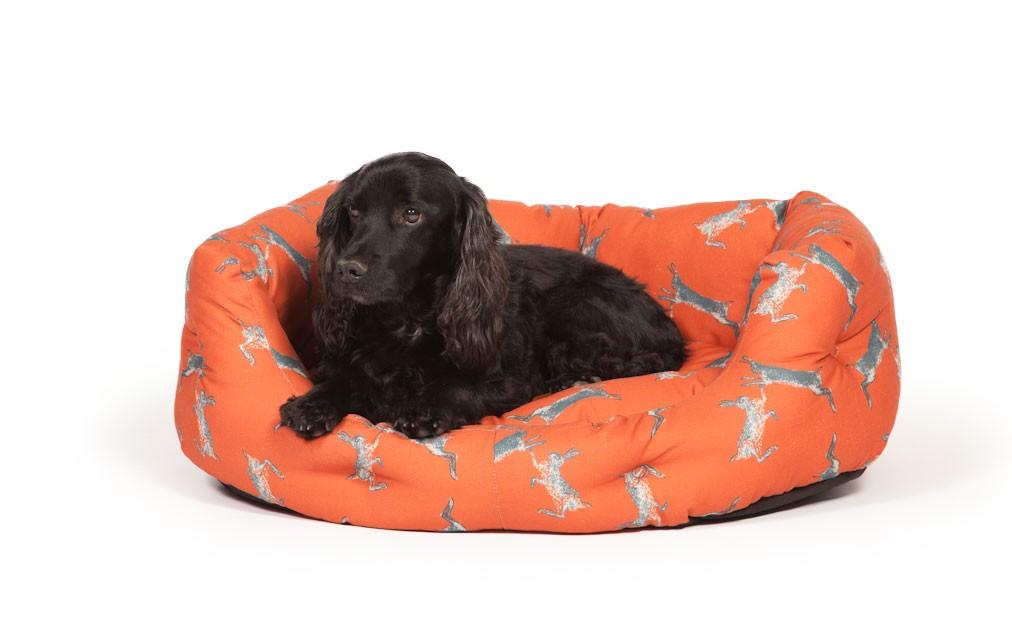 orange hares dog bed danish design