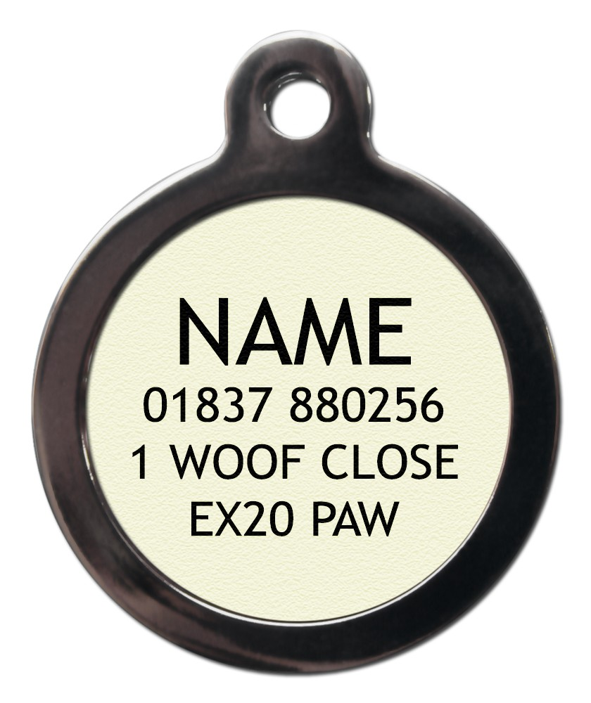 Dog ID Tags Text Information Required