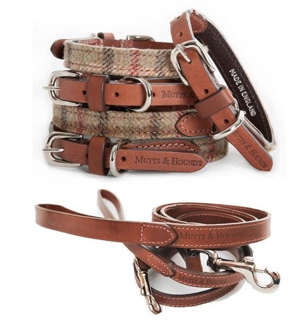 balmoral tweed dog collar and lead