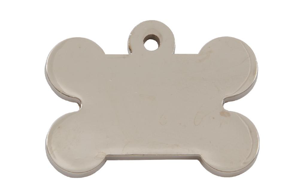Silver Bone Shaped Dog ID Tag