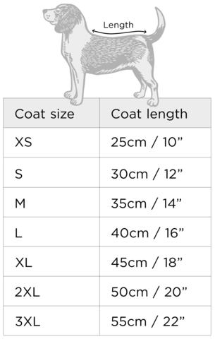 Jolie Dog Size Chart