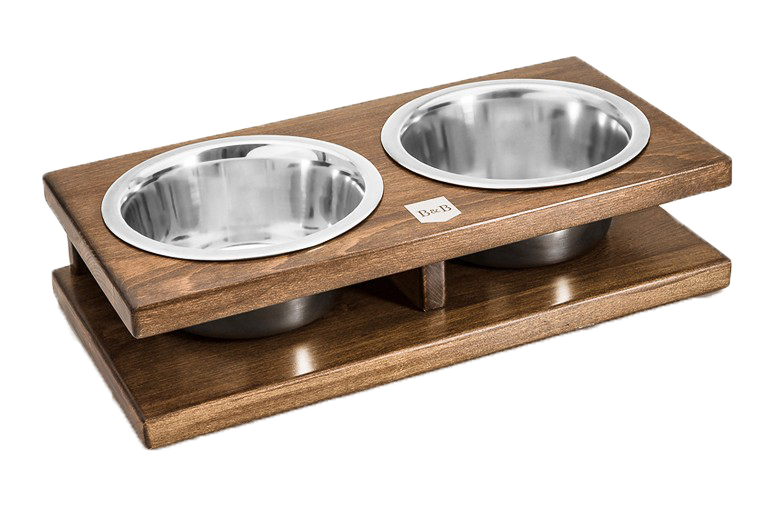 Luxury Raised Dog Feeders in Wood or Metal