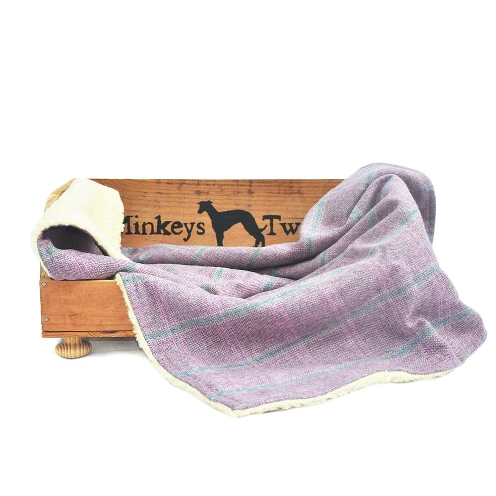 luxury tweed pet blanket