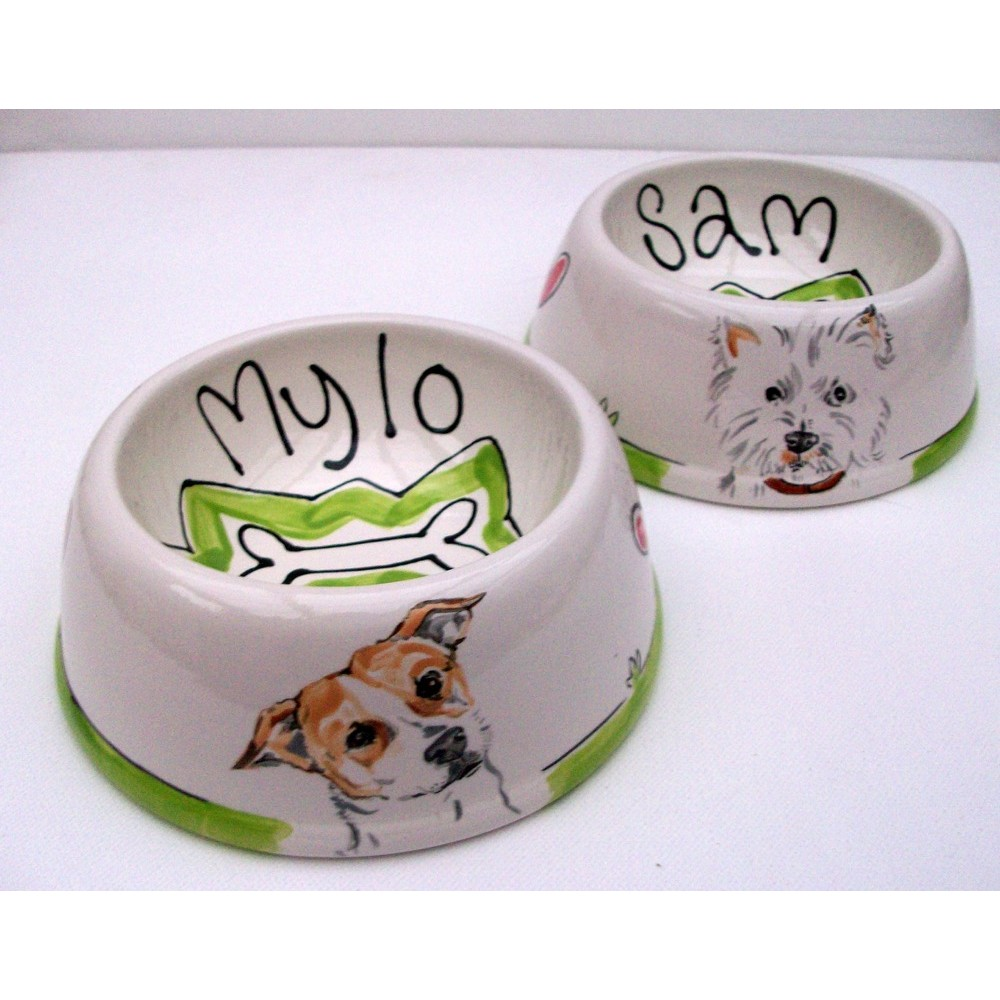 personalised dog gift bowls