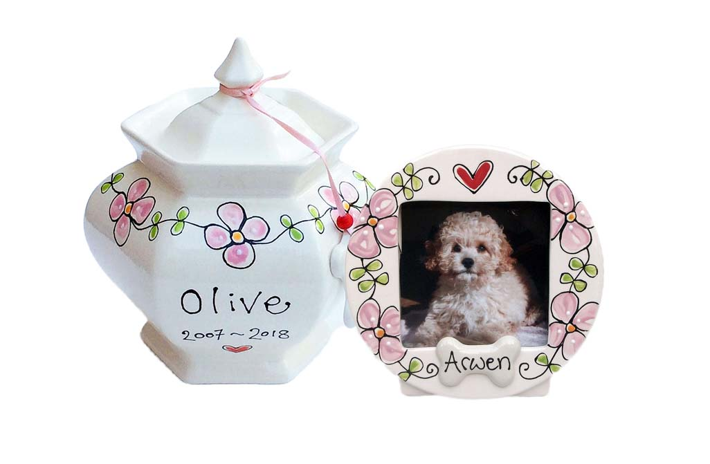 Personalised Dog Urn and Photo Frame Set