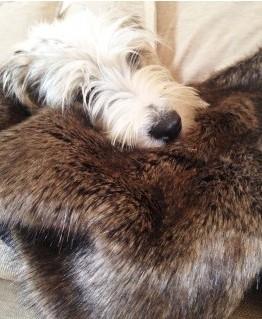 faux fur blanket brown