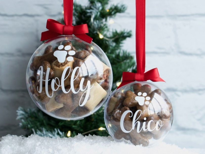 christmas baubles for pets