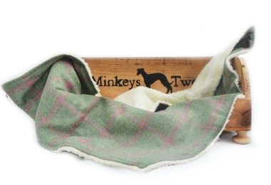 luxury tweed dog blankets