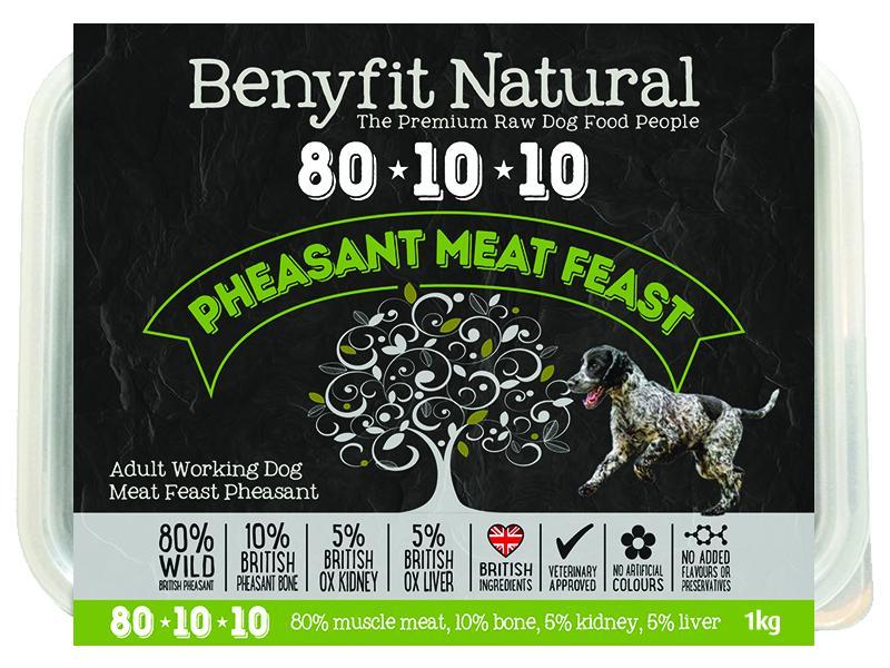 Benyfit Natural 80*10*10 Pheasant Meat Feast 1Kg
