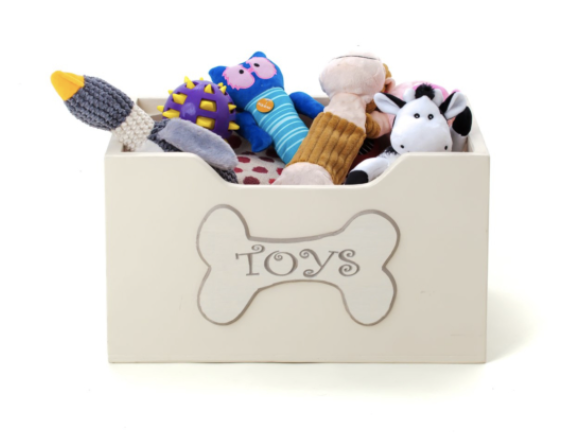 LUXURY TARBOCK WOODEN DOG TOY STORAGE BOX - CAN BE PERSONALISED