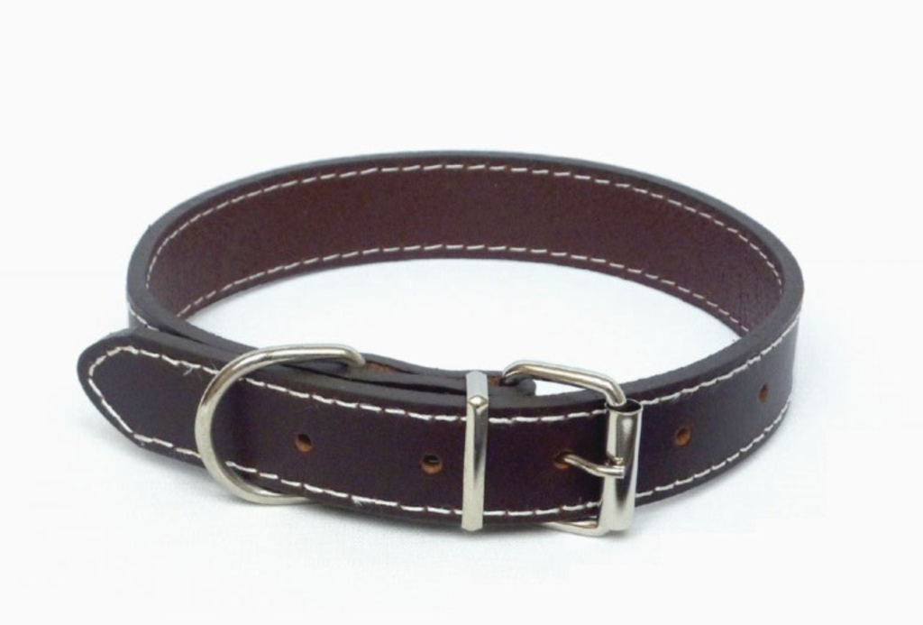 TRADITIONAL BROWN LEATHER COLLAR