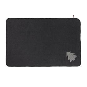 Grey Fleece Christmas Tree Pet Blanket