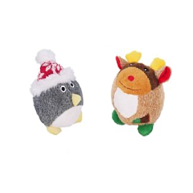 Cupid & Comet Squeaky Ball Christmas Dog Toy