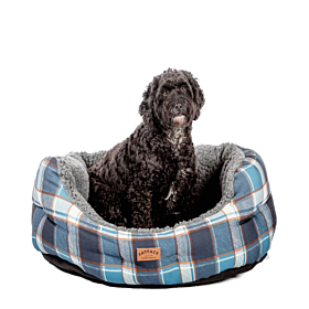 FatFace Fleece Check Deluxe Slumber Dog Bed by Danish Design