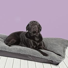 Happy Landings Black/Grey Reversible Waterproof Deep Duvet Dog Bed by Danish Design