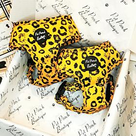 Mustard Leopard Dog Harness