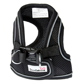 Doodlebone Airmesh Snappy Step-In Dog Harness Black