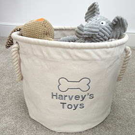 Personalised Dog Toy Storage Bag