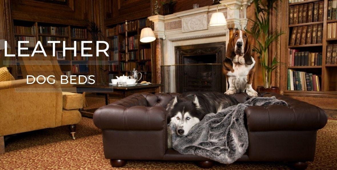 Luxury Leather Dog Beds
