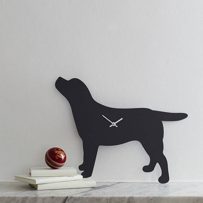 Dog Breed Clock with Wagging Tail