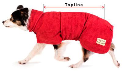 Ruff and Tumble Drying Dog Coats Topline Size Guide