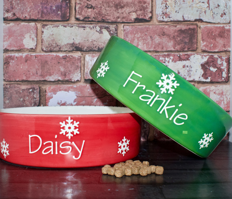 Christmas Dog Bowls | Personalised Dog Bowls